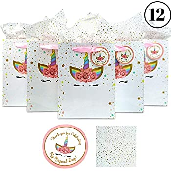 e4fedfd83b8e Amazon.com: ZSNICE Unicorn Party Bags 10pcs, Gift Bags Goody Treat ...