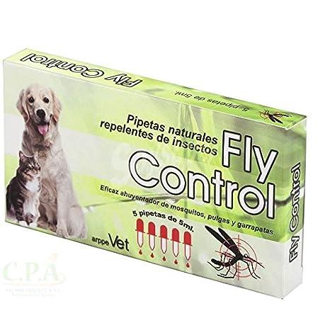 Pipetas repelentes Naturales para Perros y Gatos Fly Control 5 unid.: Amazon.es: Jardín