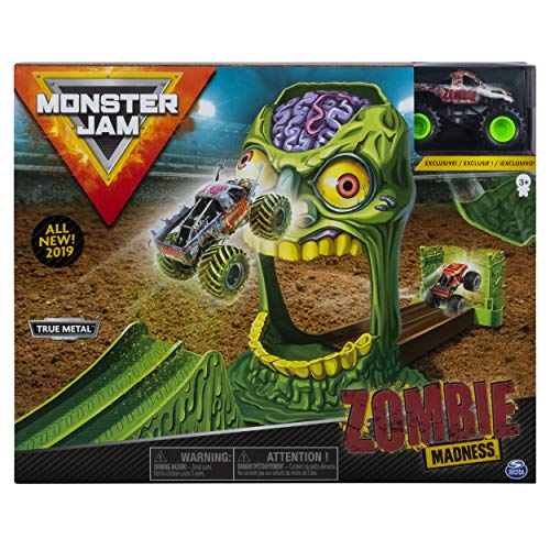 Monster Jam Official Zombie Madness Playset Featuring Exclusive Die-Cast Zombie Monster Truck ()