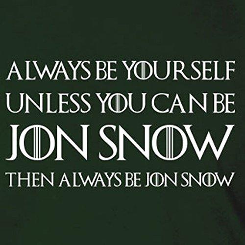 Always be Jon Snow - Herren T-Shirt, Größe: L, Farbe: blau