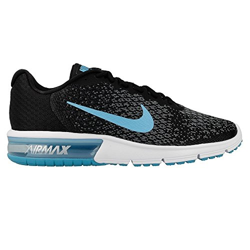 Nike Air Max Sequent 2 Black/Chlorine Blue/Anthracite/Cool Grey Mens Running Shoes Size 11.5 8WuqF2rvSk