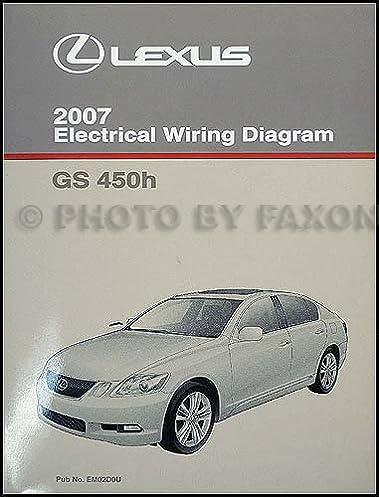 2007 lexus gs 450h wiring diagram manual original lexus amazon com rh amazon com