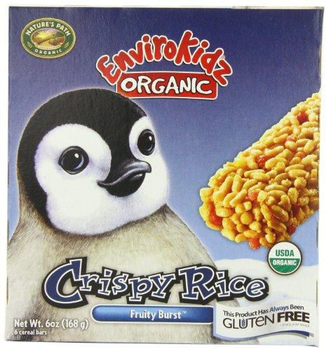 UPC 058449430278, EnviroKidz Organic Penguin Fruity Burst Crispy Rice Bar, 6-Count Bars (Pack of 6)