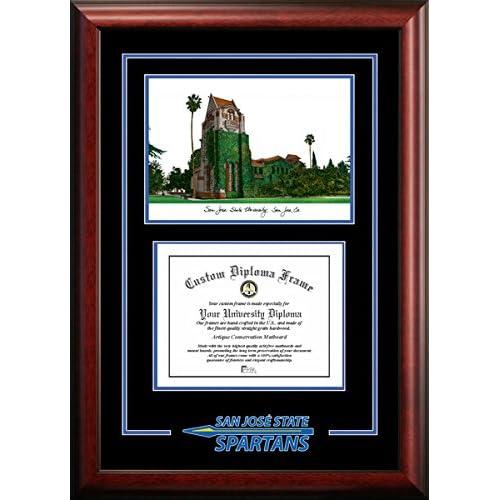 Image of Campus Images CA929SG San Jose State University Spirit Graduate Diploma Frame, 8.5' x 11' Document Frames