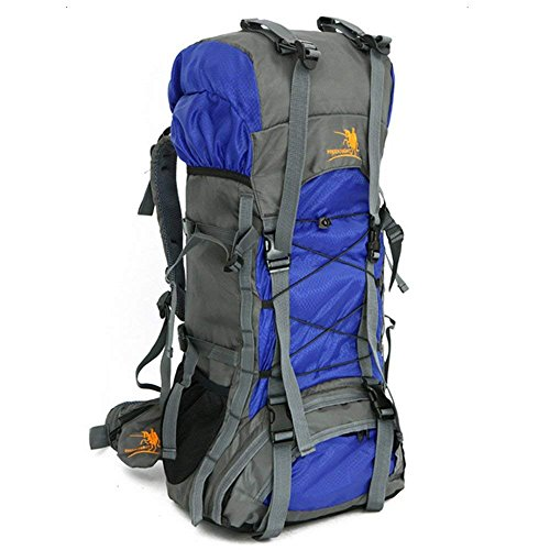 e18c13d2af Z ZTDM 55L Internal Frame Backpack Hiking Backpacking Packs Large Capacity  for Outdoor Hiking Travel Climbing Camping Mountaineering (Blue)