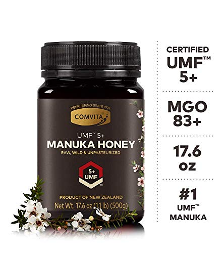 Comvita Certified UMF 5+ (MGO 83+) Raw Manuka Honey I New Zealand's #1 Manuka Brand I Authentic, Wild, Unpasteurized, Non-GMO Superfood for Daily Wellness I 17.6 oz