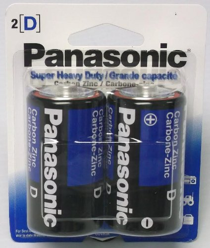 24 Pack Panasonic Super Heavy Duty D Batteries Retail Packag
