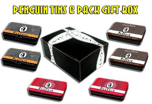 Penguin Caffeinated Mints 6 Tin Variety Gift Pack
