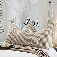 GT.S Crown Princess Backrest Pillow Bed Cotton Back Cushion Large Backrest Removable Back Cushion 180CM (Color : E)