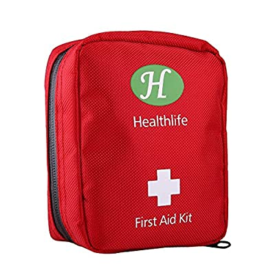 HealthLife Mini First Aid Kit,25 Pieces Lightweight Medical Emergency Bag Small Portable Survival tools Pack for Emergencies at Home Car Camping Workplace Traveling Adventures Sports Hiking by Safeguard Direct