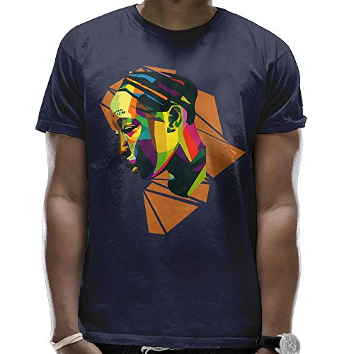 Africa T Shirts for Men Graphic On Back Summer Pattern Top Cartoon Navy XXX-Large by Romantic Fish