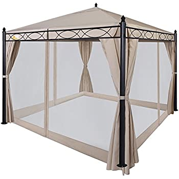 Palm Springs 10ft x 10ft Deluxe Patio Canopy with Mosquito Mesh Sides
