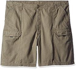 Wrangler Men's Big-Tall Authentics Utility Short, Earth Green, 44