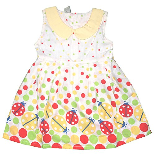 Baby Girls Summer Ladybug Cartoon Print Dress (Label