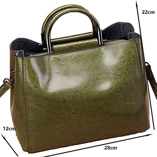 Main Casual Cuir Extérieur Big Zm Souple Nouveau Vachette En Bandoulière Green Messenger Sac À Dames Bag rt7PtW