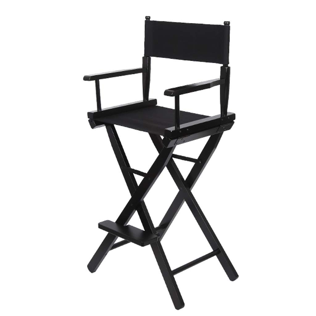 Amazon.com: Folding Chair Portable Wooden High Chair Black ...