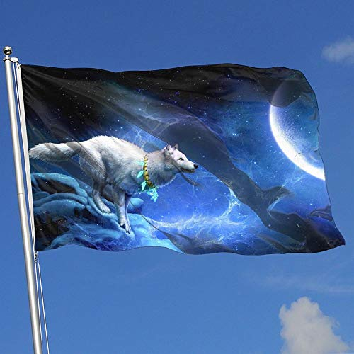 BQCHMBO Wolf Moon Party Flag,Home Flag,garden Flag,100% Poly