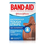 Band-Aid Brand Tough-Strips Waterproof Adhesive Bandages, Durable Protection for Minor Cuts and Scrapes, Assorted Sizes, 20 Count (Pack Of 6)