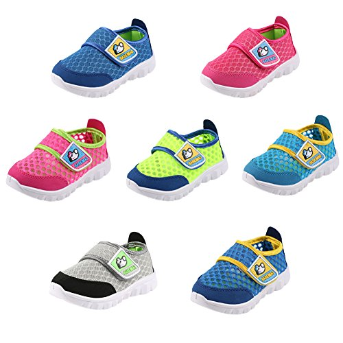 Image of SENFI Kids Breathable Mesh Lightweight Walking Shoes Running Sneakers (Little Kid/Toddler)