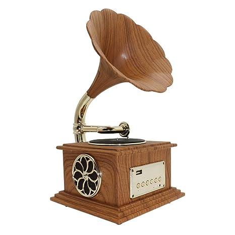 HWZQHJY Bluetooth Tocadiscos música dinámica de Altavoces ...