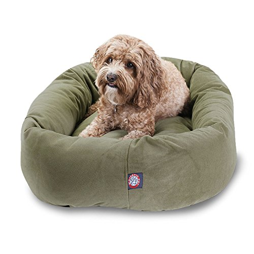 32 inch Sage Suede Bagel Dog Bed By Majestic Pet Products from Majestic Pet