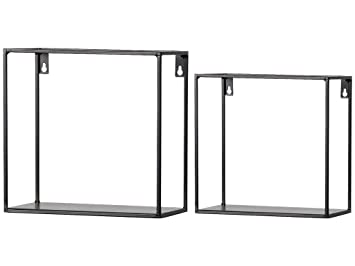 Woood Meert 2er Set Wand Regal Metall Schwarz Kubus 390922 Z Amazon