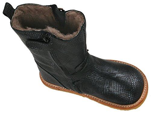 Bisgaard Unisex-Kinder Biker Tex-Waterproof Boots Stiefel Schwarz (212 Snake-Black)