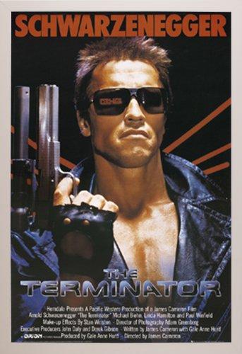 terminator poster a white plastic
