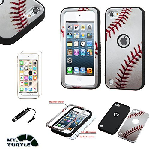 Ball Sports Soccer 2015 2019 MYTURTLE iPod Touch 7th 6th 5th Generation Case Shockproof Hybrid Hard Silicone Shell Impact Cover with Screen Protector for iPod Touch 7 iPod Touch 5//6