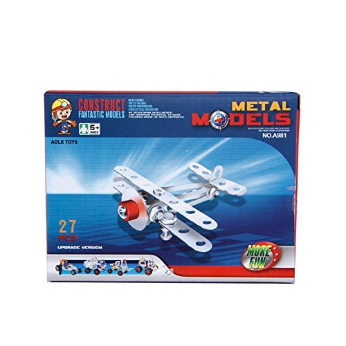 WOTOY Childrens Puzzle Metal Building Blocks Toys Disassemble Aircraft Model DIY Toys