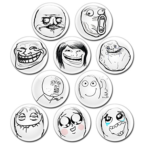 Troll Face Meme Costume (Troll Face Button Bundle by EnderToys - 1