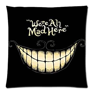 JeremyArtStore Were Ah Mad Here Cotton Linen Pillow Cover 18 x 18 Inch