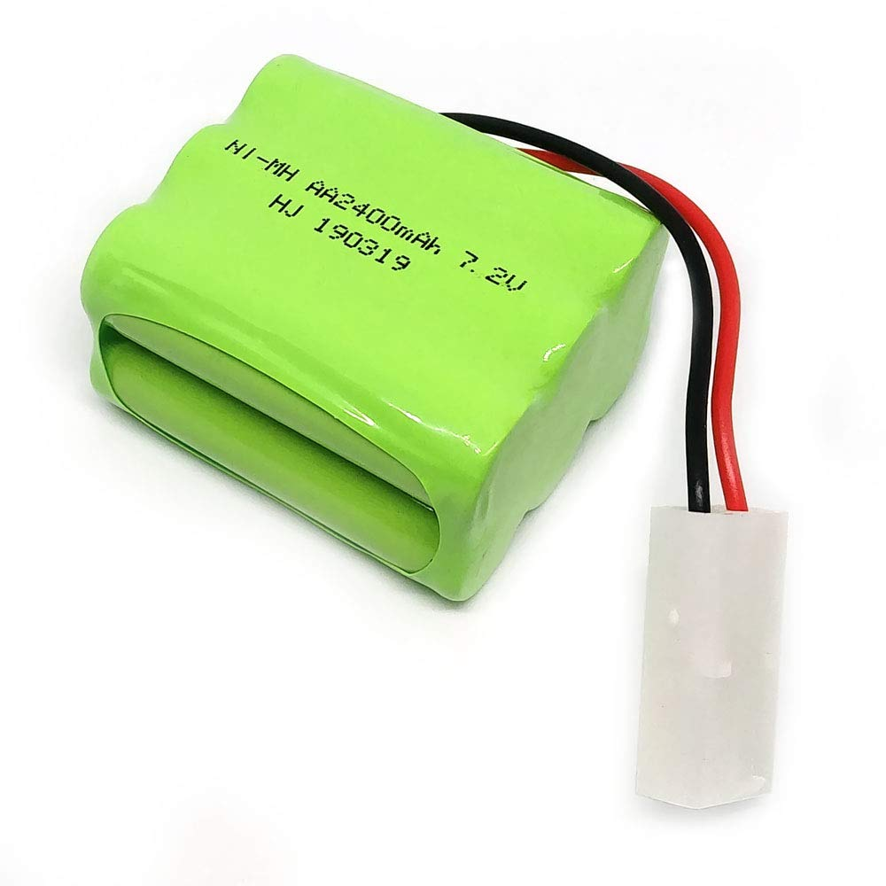 Security Facilities Electric Tools Lighting Gecoty 7.2V 2400mAh Ni-MH Rechargeable AA Battery Pack KET 2P Plug for Remote Control Toys etc /…