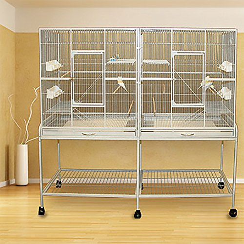 Double Timbertown Treehouse Bird Cage and Flight Cage - 61''