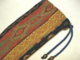 Native American Flute Bag - Beautiful Southwest - Heavy Woven Fabric