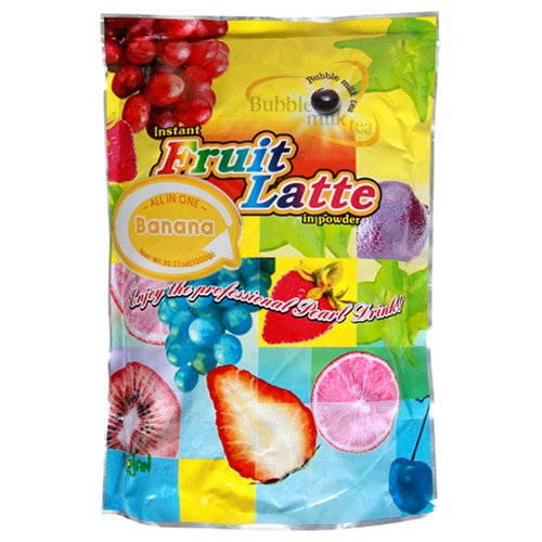 Trojan Instant Fruit Latte Bubble Tea Milk Powder, Banana, 2.2-Pound Bags (Pack of 2)
