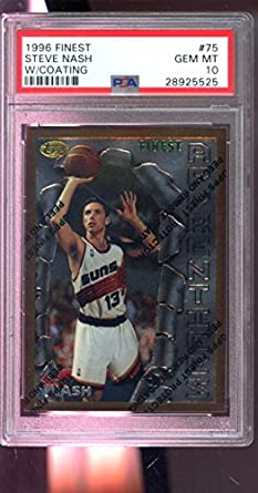 buy popular 68152 8e95a Amazon.com: 1996-97 Topps Finest #75 Steve Nash ROOKIE RC ...