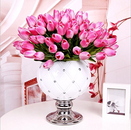 10pcs wedding decor pu tulip artificial wedding home for Decorate with flowers amazon