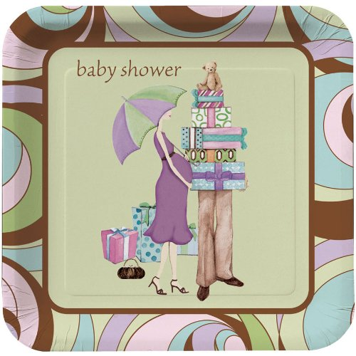 Parenthood Baby Shower 7-Inch Paper Plates 8 Per Pack