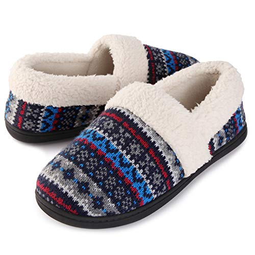 RockDove Women's Nordic Slipper with Memory Foam, Size 9 US Women, Polaris Blue