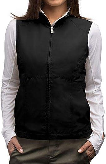 Fllay Womens Fashion Zipper Vest Tie Pockets Cardigan Jacket Coats