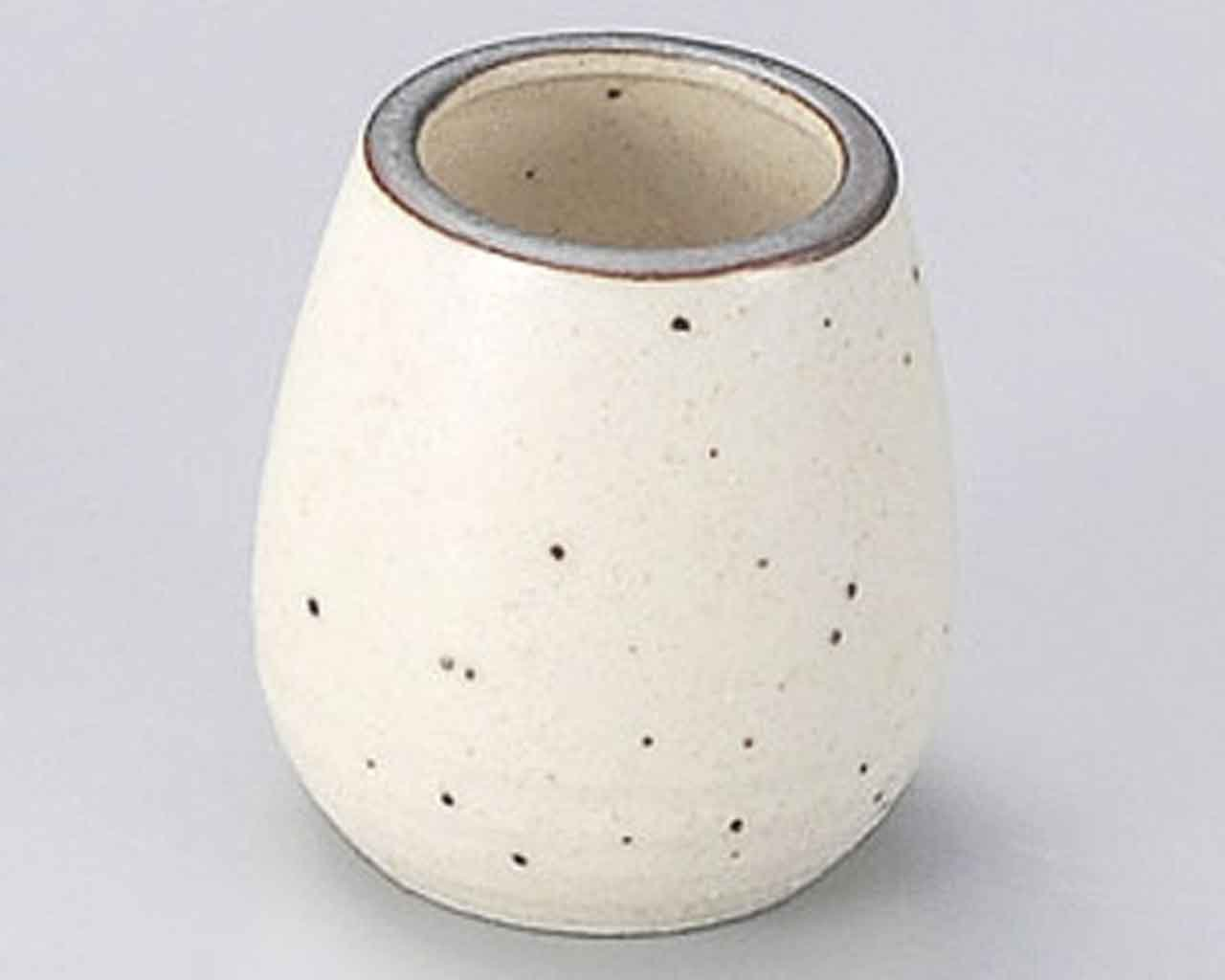 Karatsu 2inch Set of 5 Toothpick holders Beige porcelain Made in Japan by Watou.asia