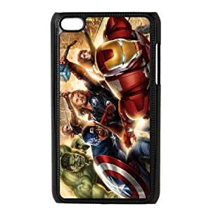 Ipod Touch 4 Phone Case for Spiderman Thor Hulk Iron Man pattern design