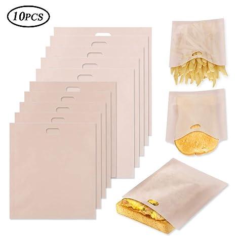 Tagaremuser - 10 bolsas para tostadas, resistentes al calor ...