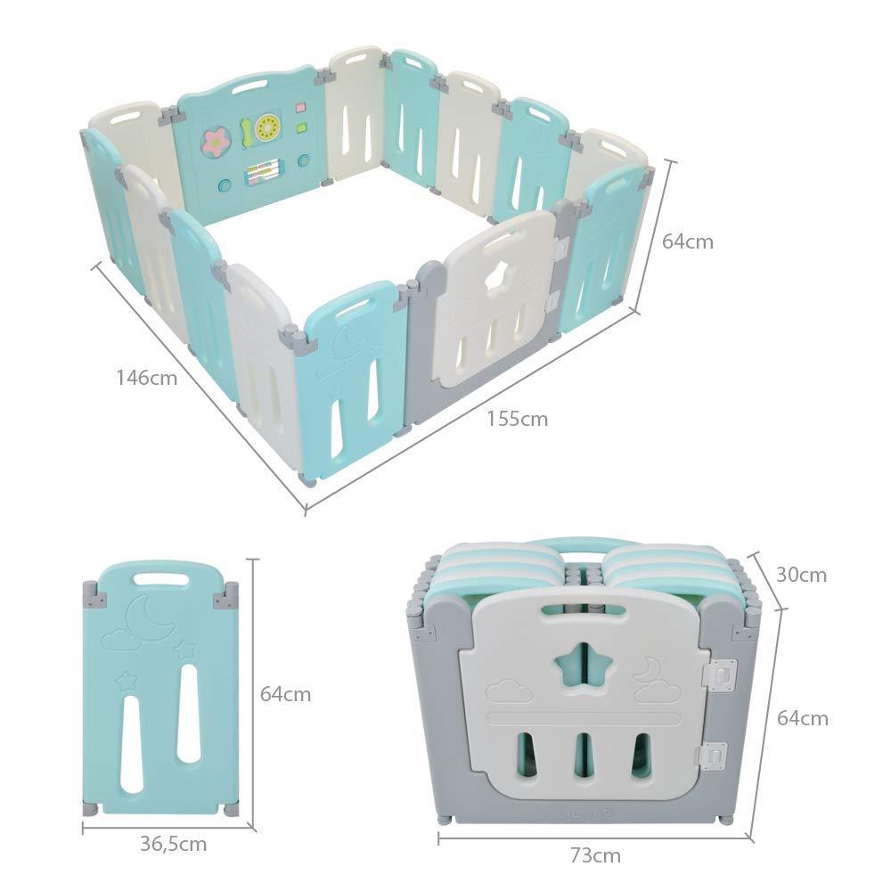 LILNAP Box per Bambini Pieghevole /& Estensibile con Certificazione CE /& EN71 composto da 14 Elementi