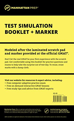Manhattan GMAT Test Simulation Booklet w/Marker