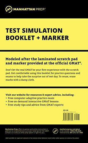Manhattan GMAT Test Simulation Booklet w/ Marker (Best Way To Prep For The Mcat)