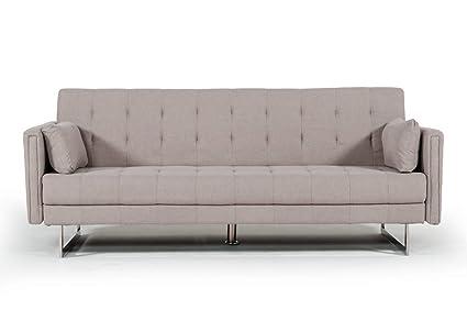 Amazon.com: Divani Casa Tejon Modern Beige Fabric Sofa Bed: Kitchen ...