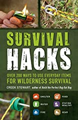 """""""Most of us need never fashion a gas mask from a soup can.... Should the need arise, you'll be glad for a copy of Survival Hacks... offers tips ranging from making a cookstove from a packet of alcohol-soaked ramen to cutting a fishing lure fr..."""