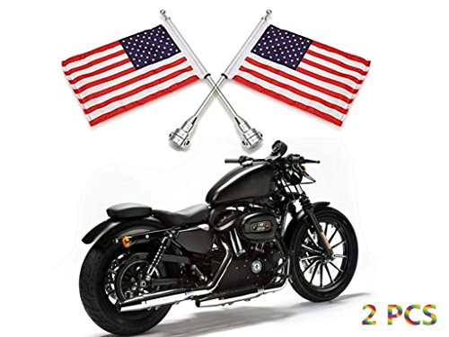 rcycle 6 x 9 American Flag + Flagpole Mount Kit, Luggage Rack/Fender, Durable Adjustable For Harley Davidson Honda Goldwing CB VTX CBR Yamaha (Rack Flag Mount)